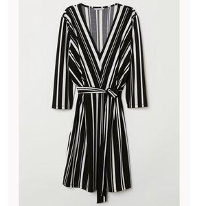 H&M Black/White Striped Dress